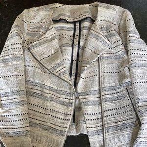 LOFT patterned moto jacket